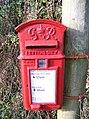 George VI Post Box, Bugley - geograph.org.uk - 1595209.jpg