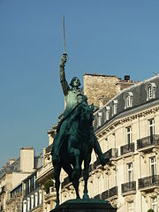 A statue of George Washington in the Place d'Iéna, Paris, France