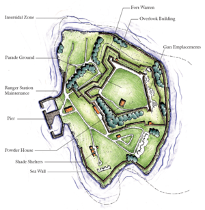 Georges Island (Massachusetts) - Map of Georges Island.