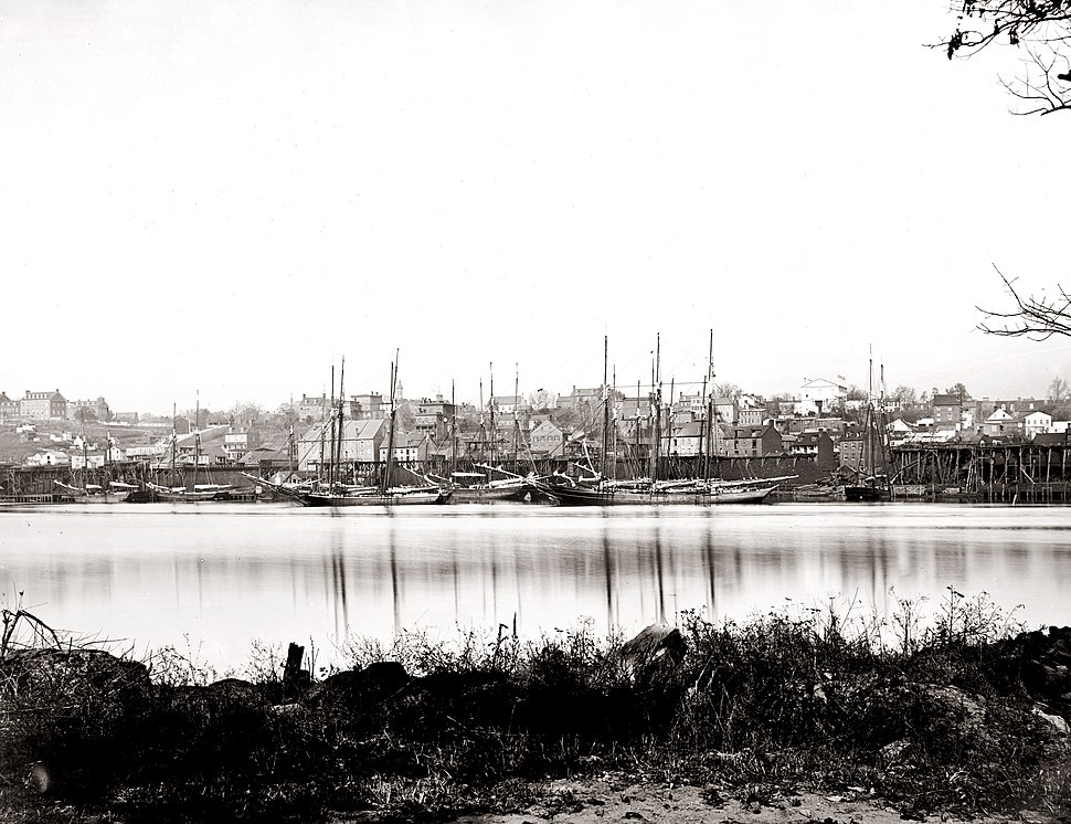 Georgetown waterfront in 1865