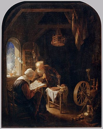 Gerard Dou - Reading the Bible - WGA06644