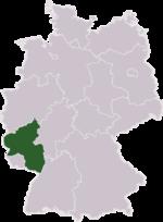 Porýní-Falc na mapě Německa