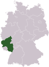 Position of the Rhineland-Palatinate within Germany