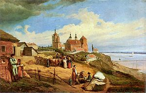 Płock - Płock in 1852, by Wojciech Gerson