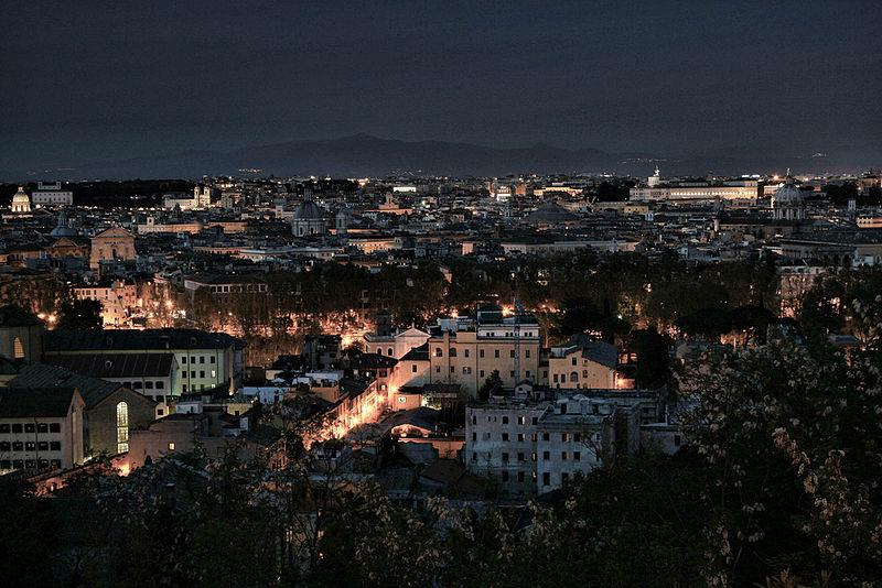 File:Gianicolo roma di notte.jpg