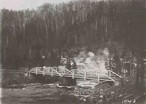 Gibbon River - Image: Gibbon River Bridge Beryl Spring 1912
