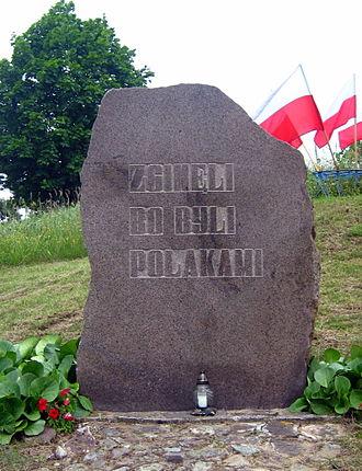 Augustów roundup - Image: Giby pomnik zginęli