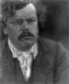 Chesterton fotografato nel 1905.