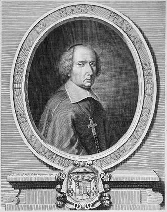 Gilbert de Choiseul Duplessis Praslin - Engraved portrait of Gilbert Choiseul du Plessis-Praslin by Pierre Landry, 1670