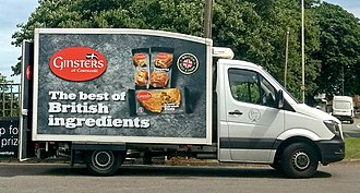 Ginsters - Ginsters delivery van