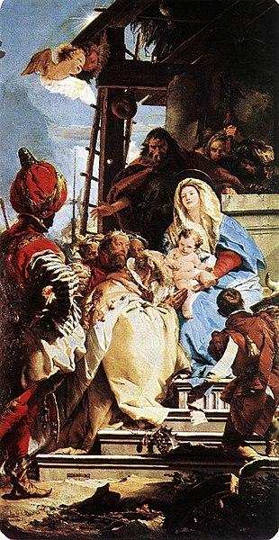 Archivo:Giovanni Battista Tiepolo - Adoration of the Magi - WGA22346.jpg
