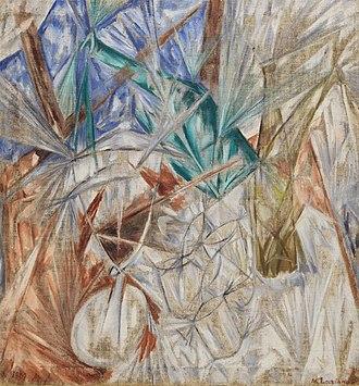 Russian avant-garde - Rayonism. Mikhail Larionov, The Glass, 1912, Solomon R. Guggenheim Museum