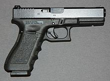 "A ""third-generation"" Glock 17C, identified by the addition of an extra cross pin above the trigger and a reshaped extractor that serves as a loaded chamber ..."