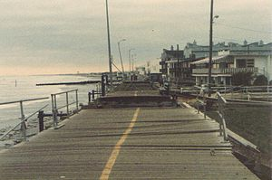 Hurricane Gloria - Boardwalk damage in Ocean City, New Jersey