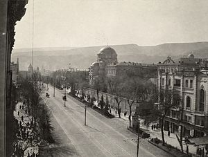Rustaveli Avenue - Rustaveli Avenue, then called Golovin Avenue, in the 19th century