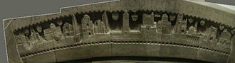 Bertram Goodhue - Frieze above Goodhue's tomb, Church of the Intercession, New York City, New York