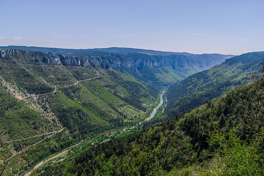 View on Gorges of Tarn River from Saint-Rome-de-Dolan, France