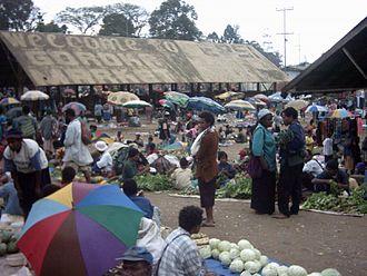 Goroka - Goroka market