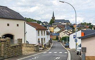 Gostingen, Luxembourg - View of Gostingen (2016).