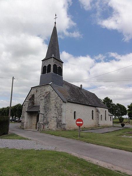 Goudelancourt-lès-Pierrepont (Aisne) église