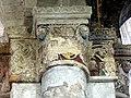 Gournay-en-Bray (76), collégiale St-Hildevert, collatéral sud du chœur, chapiteau du 2e doubleau, côté nord.jpg