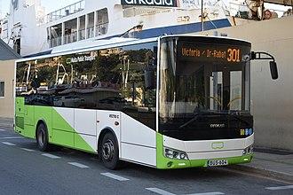 Gozo - Transport bus in Gozo in 2017
