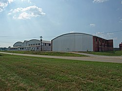 Gragg Field historic hangars July 2011 2.jpg