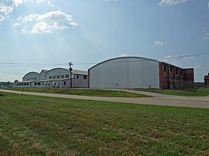 Chilton County Airport - Historic hangars at Gragg Field