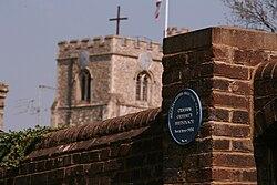 Photo of Graham Greene blue plaque