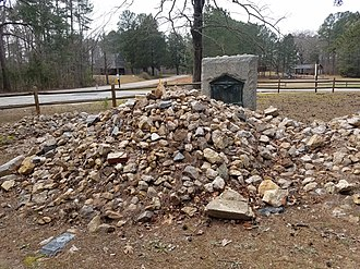 Nathaniel Macon - Macon's gravesite near Vaughan, North Carolina. It remains covered in stones, per his request.