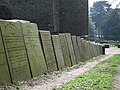 Gravestone wall (2) - geograph.org.uk - 1806441.jpg
