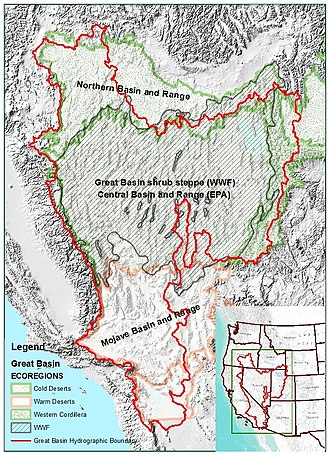 Great Basin - Image: Great Basin Ecoregions