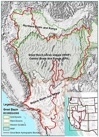 Great Basin - Image: Great Basin Ecoregions