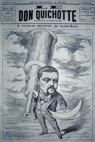 Great Paris Exhibition Telescope of 1900 - An 1892 cartoon ridiculing François Deloncle who proposed the project