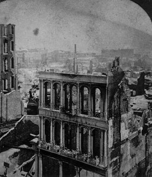 Great Boston fire of 1872 - Ruins left by the fire