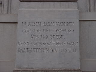 Conrad Grebel co-founder of the Swiss Brethren movement