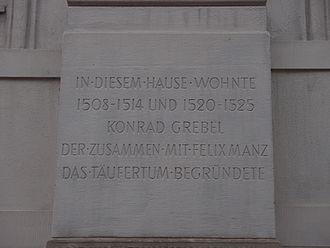 Conrad Grebel - Image: Grebel Konrad Zürich Neumarkt 5