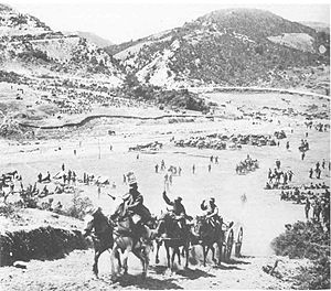 Battle of Kresna Gorge - Image: Greek advance Kresna 1913