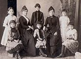 Photograph of Pontian women and girls in western dress.