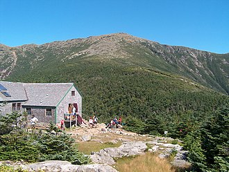 High Huts of the White Mountains - Greenleaf Hut on the shoulder of Mount Lafayette