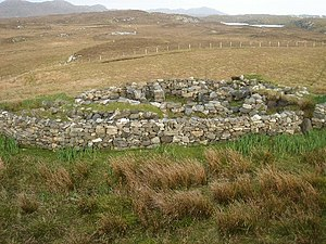 Architecture of Scotland in the Roman era - A wheelhouse on Grimsay