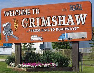 Grimshaw, Alberta - Boundary sign