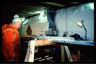 Greenland ice core project - A portion of the core