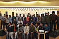 Group photo of Bengali Wikipedians at Wikipedia 15 celebration in BSK (01).jpg