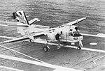 Grumman S-2D Tracker of VS-37 on USS Hornet (CVS-12) c1963.jpg
