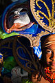 Guadeloupe winter carnival, Pointe-à-Pitre parade. A young girl, performer wearing traditional carnival head-dress(close up outdoor portrait).jpg