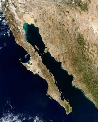 Gulf of California - Satellite picture of gulf.