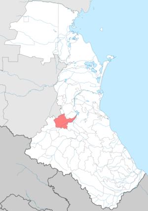 Gumbetovsky District - Image: Gumbetovsky district locator map