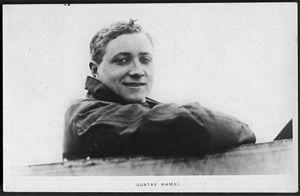 Gustav Hamel - Postcard of Hamel, winner of the 1913 Aerial Derby at Hendon Aerodrome