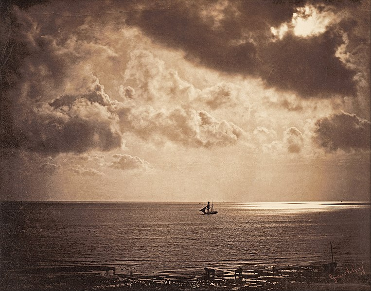 Bestand:Gustave Le Gray - Brig upon the Water - Google Art Project.jpg